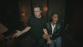 Tiffany Haddish and Average Andy Go Through a Haunted House