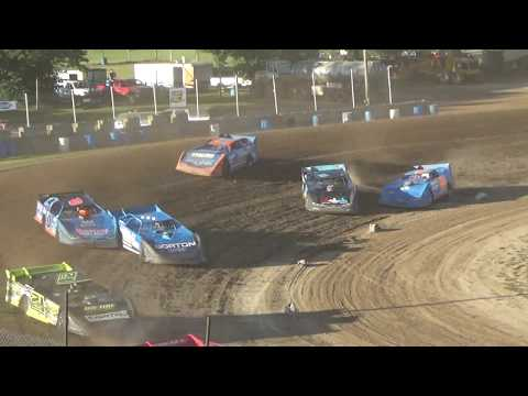 Late Model Heat Race #1 at Crystal Motor Speedway on 07-07-2018