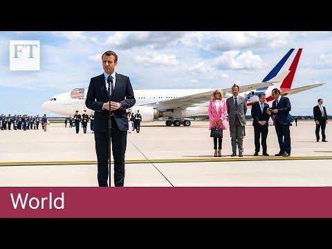 Macron strolls around Washington DC