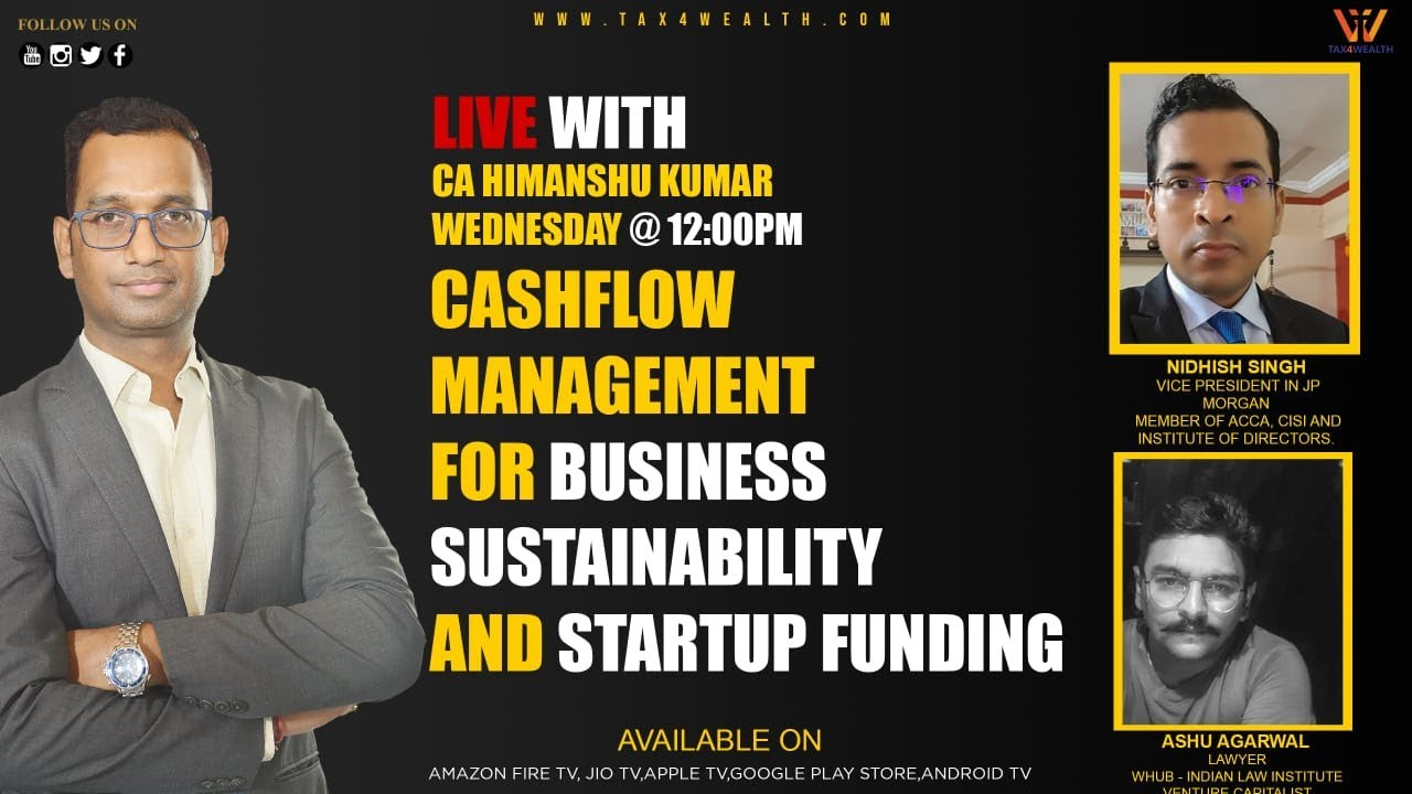 Live on Wednesday at 12PM Cash flow management for business sustainability and Startup Funding
