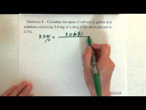 2. Concentration of a Solution: Mass Percent (% m/m) (2)