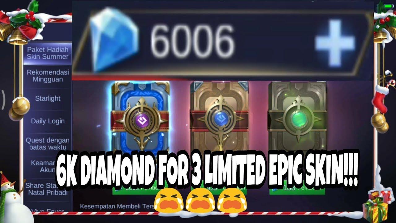 christmas giftpack skin 6000 diamond!!!! - mobile legends