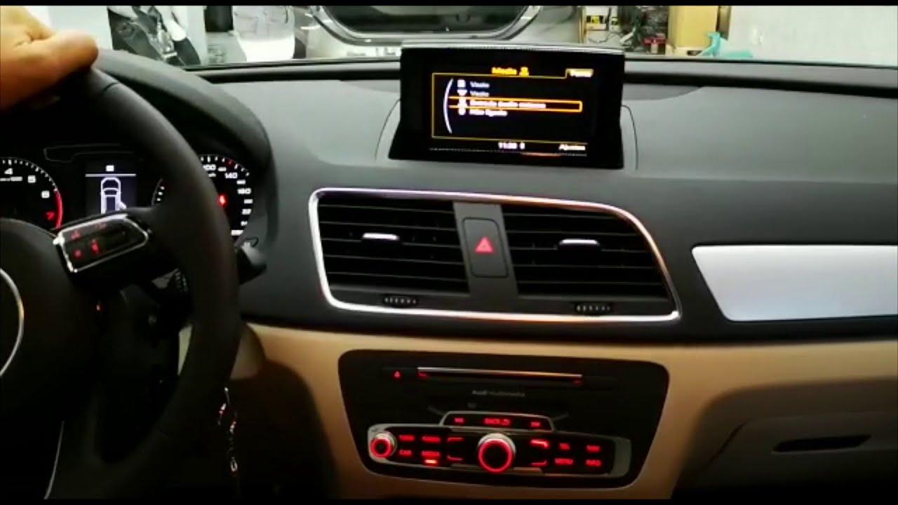 Audi Q3 com Apple Carplay Android Auto e Espelhamento ...