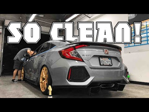 GETTING THE CIVIC SI PRO DETAILED! + SHENANIGANS