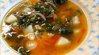 Постный суп овощной /  Soupe de légumes
