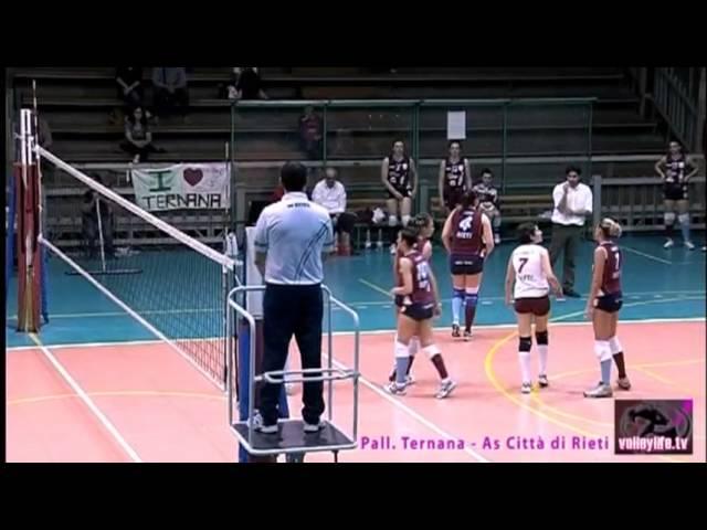 Ternana Pallavolo vs Città di Rieti - 3° Set - Serie B2 04.05.13