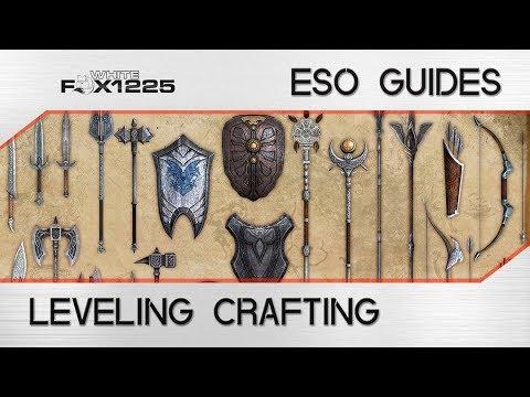 Elder Scrolls Online How To Level Up Crafting Skills Fast