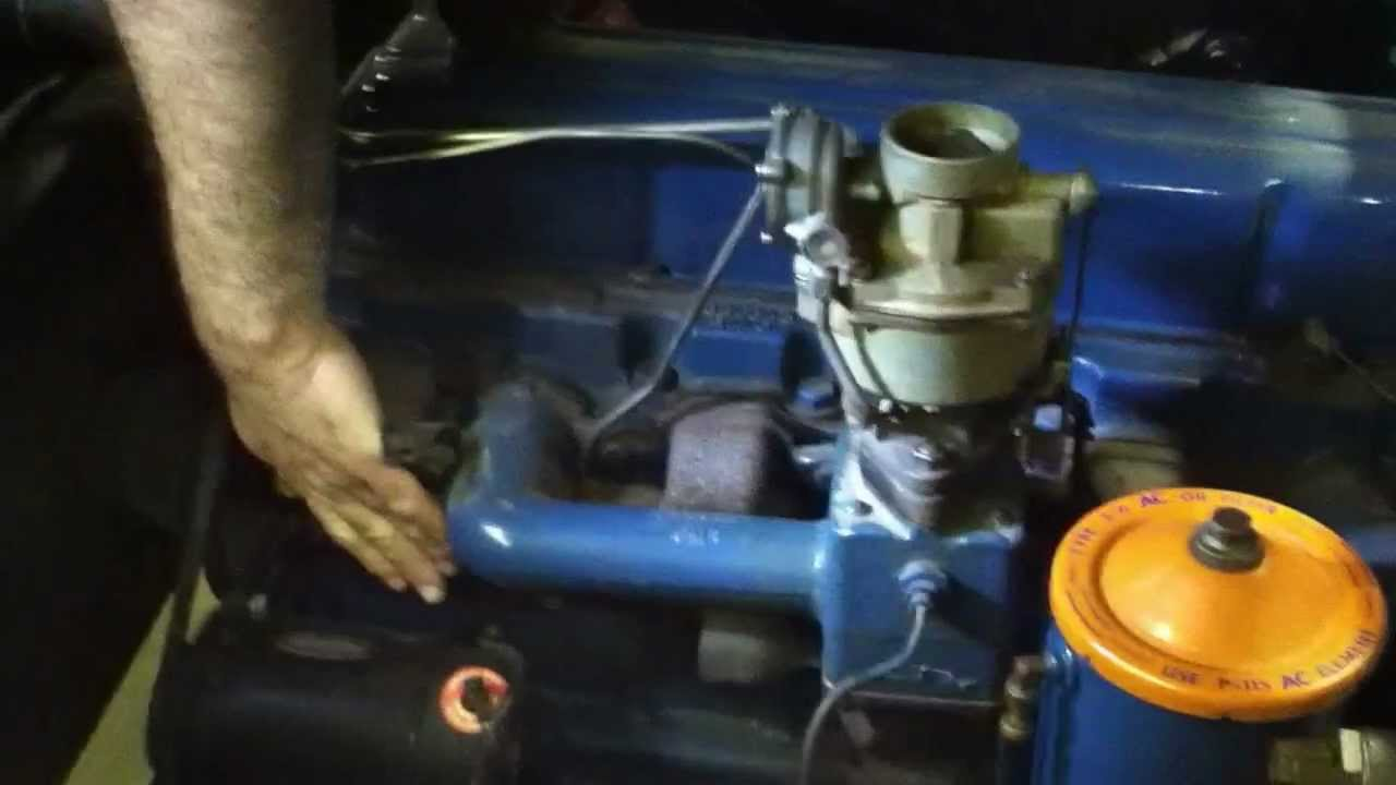 1956 Chevrolet 6 Cylinder Motor Only For Sale Youtube