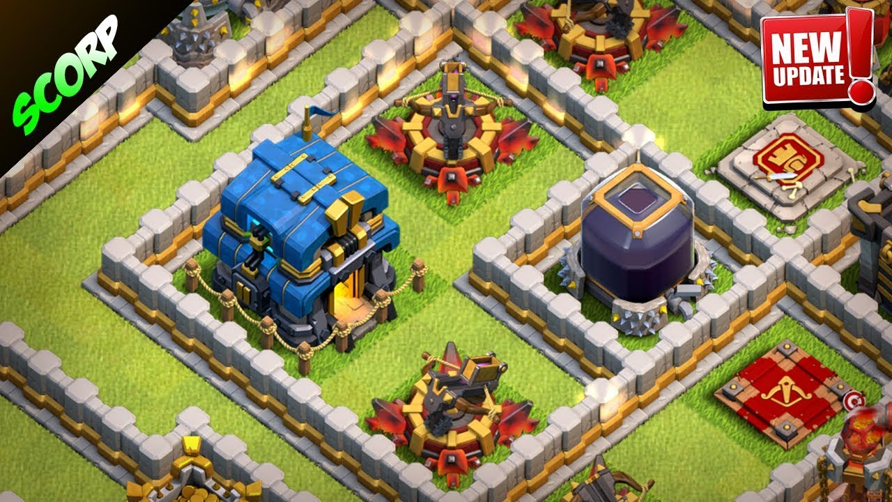 New Th12 Trophy Base Farming Base June Update 2018 Clash Of