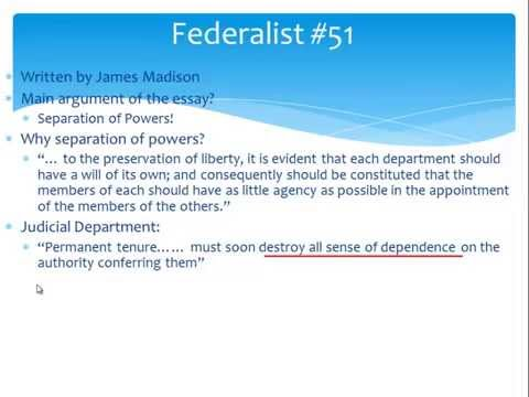 AP Gov Review The Federalist Papers 10 And 51 YouTube