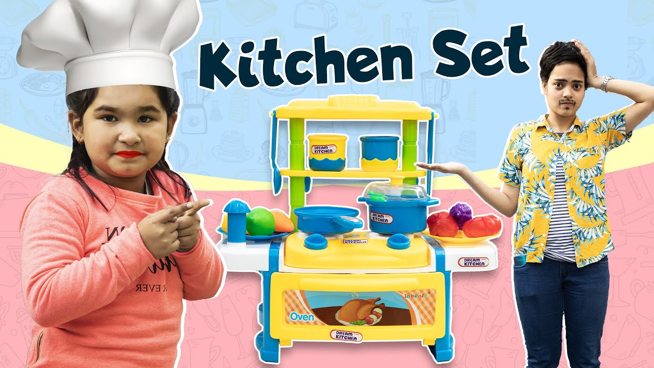 Kids PRETEND Play Cooking KITCHEN Set  | ToyStars