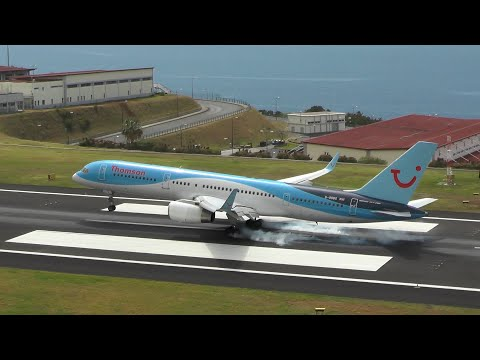 Funchal Madeira Airport Spotting ✈ Spectacular Landings & Departures