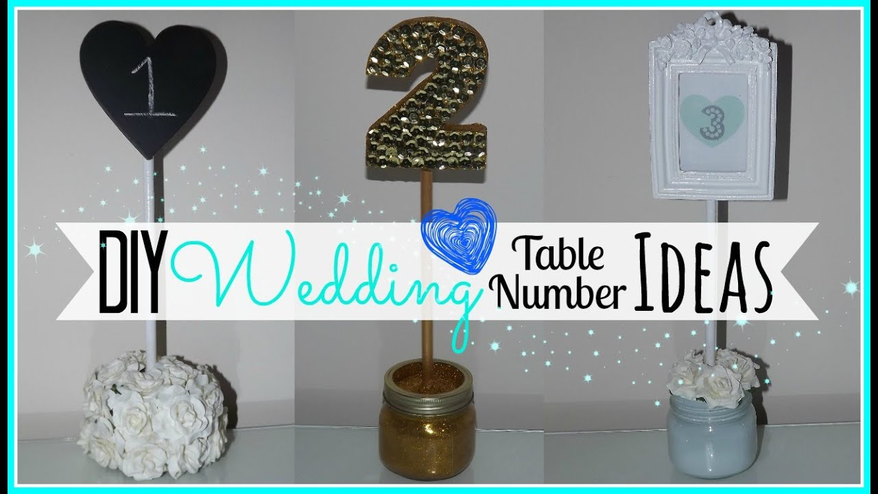 Diy Wedding Table Number Ideas Affordable Wedding Series Youtube