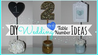 Diy Wedding Table Number Ideas - Affordable!