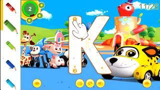 Bé Tập Tô Bảng Chữ Cái Tiếng Anh l Baby Practicing English Alphabet l 5 phút Cùng Bé Học Tiếng Anh