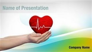 Conceptual Human Heart PowerPoint Template Backgrounds - DigitalOfficePro #02567W