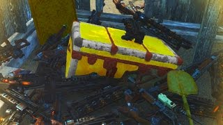 Fallout 4 INSANE LEGENDARY WEAPONS CHEST - Best Legendary Weapon Farming EVER!!