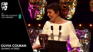 Olivia Colman Delivers Emotional Speech & Wins Leading Actress | EE BAFTA Film Awards 2019