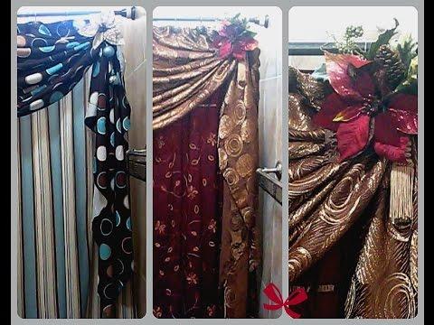 Como arreglar las cortinas de baño para que se vean fabulosas en navidad y en toda ocasión