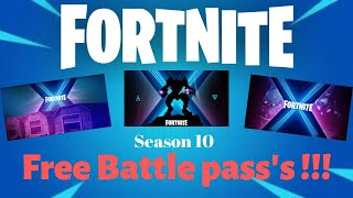 TBN fortnite season 10 , brand new Battle Pass, all tiers. Free Battle Passes Giveaway