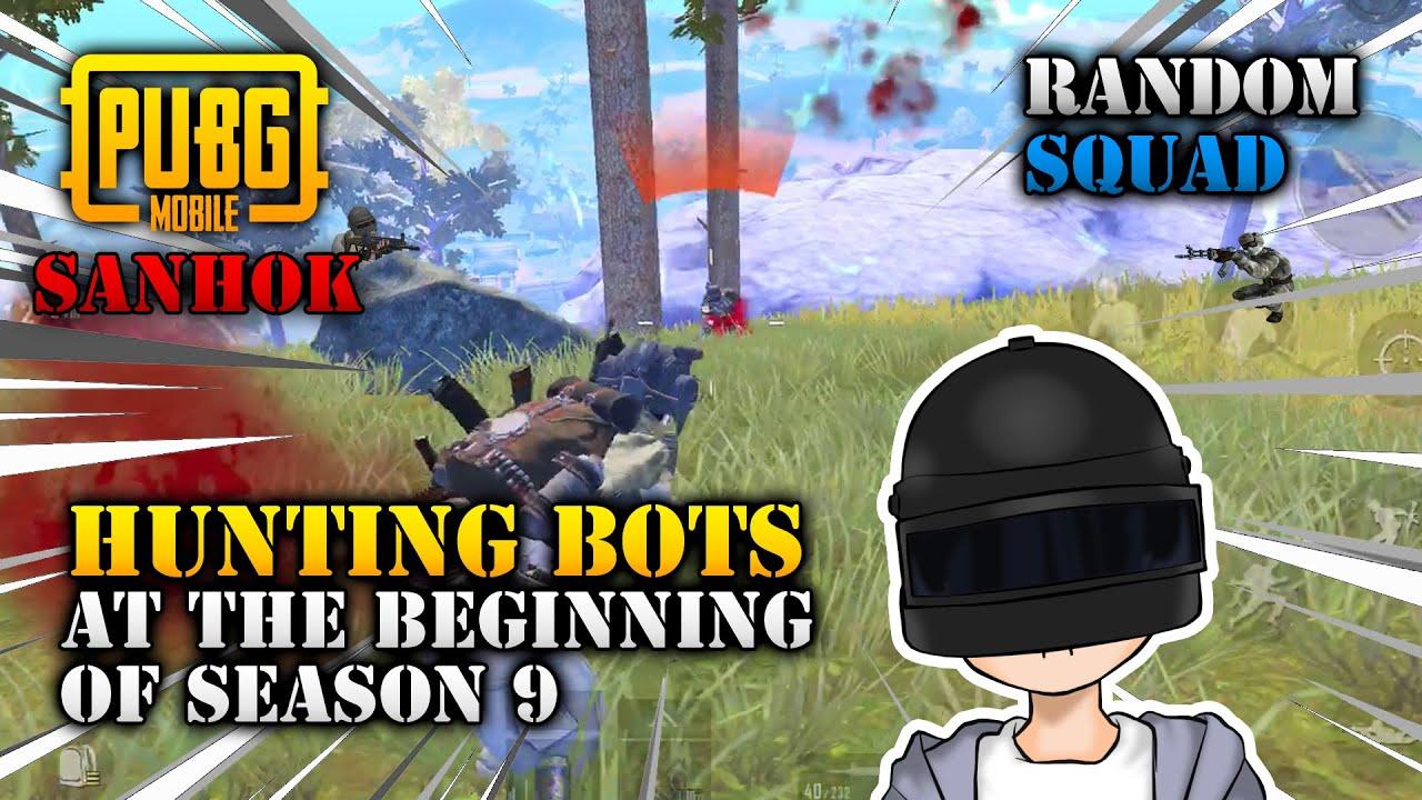 Fun Hunting Bots at the Beginning of Season 9 - Map of Sanhok | PUBG Mobile