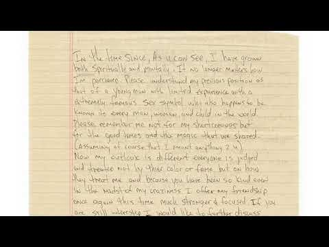Tupac Shakur Handwritten Love Letter To Madonna