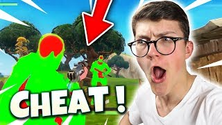 I FOUND a CHEATER on FORTNITE Battle Royale!