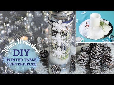 DIY Winter Wonderland: Table Centerpieces (+ fake snow!) | BalsaCircle.com