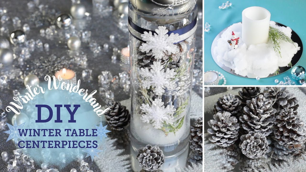 Diy Winter Wonderland Table Centerpieces Fake Snow