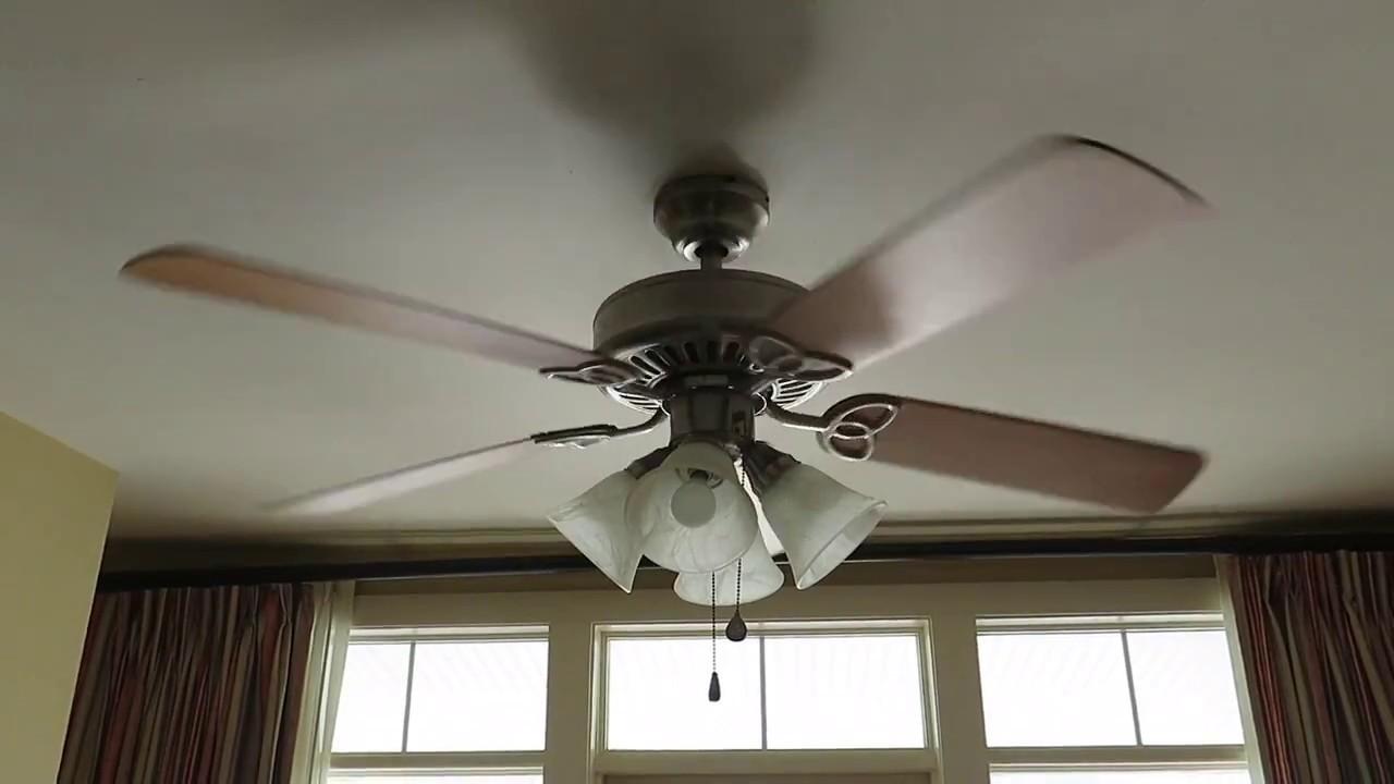 Harbor Breeze Springfield ceiling fan (2 of 2) - YouTube