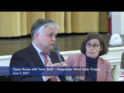 Deepwater Wind Project Open House with Town Staff
