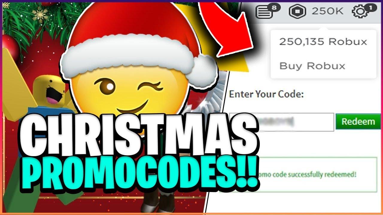 Secret Christmas Roblox Promo Codes Free Robux December 2020 Youtube
