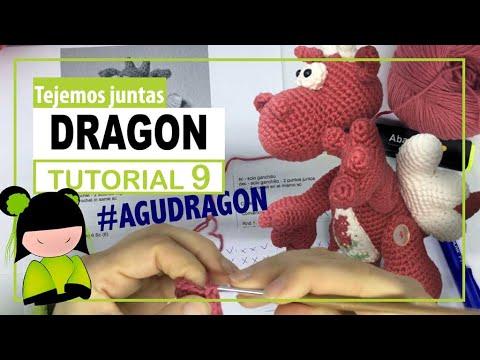 Dragon amigurumi paso a paso | TEJEMOS JUNTAS? | Parte  9