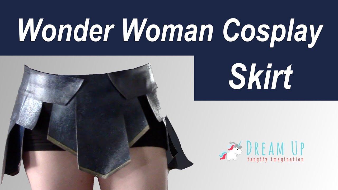 Wonder Woman Cosplay: Skirt - YouTube