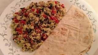 Tofu Veggie Scramble  Tofu Bhurji - Vegan, Quick & easy breakfast Recipe