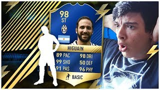 OMG HIGUAIN 98 TOTS IN A PACK! EPIC REACTION [FIFA 17]