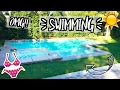 FIRST TIME SWIMMING AT THE NEW HOUSE!! AlishaMarieVlogs