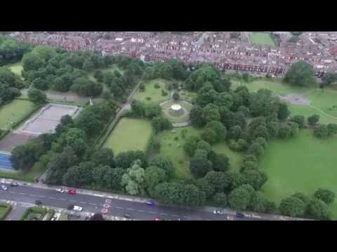 DERBY PARK, BOOTLE, LIVERPOOL DRONE FOOTAGE
