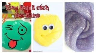 3 DIY How to make Slime / 3 cách làm Chất nhờn ma quái đơn giản / Ami DIY