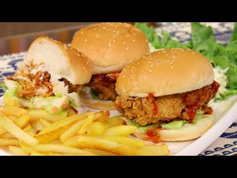 ZINGER BURGER KARACHI STYLE|EID SPICAL|[Pakistani Canadian Mom]