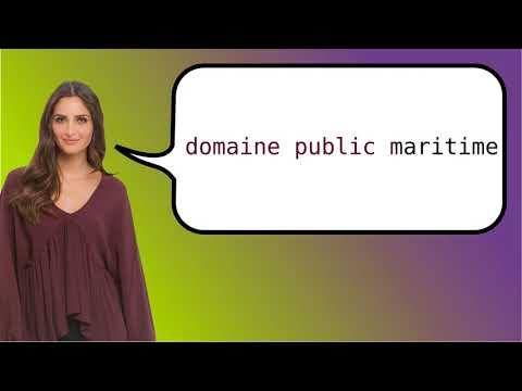 How to say 'public maritime domain' in French?