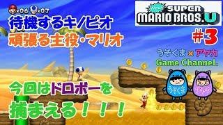【ポンコツコンビ】頑張るマリオと待機きのこ【New SUPER MARIO BROS.U】#3