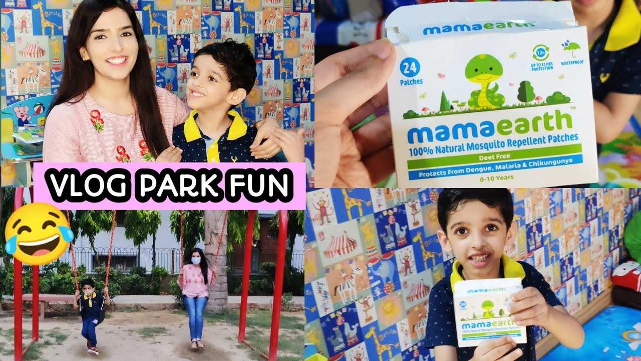 VLOG Park visit with my Son | Evening Fun Time | Mamaearth Mosquito Repellent Review