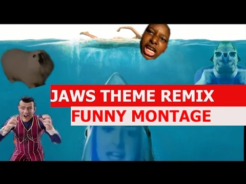 Jaws Theme Remix - FUNNY MONTAGE