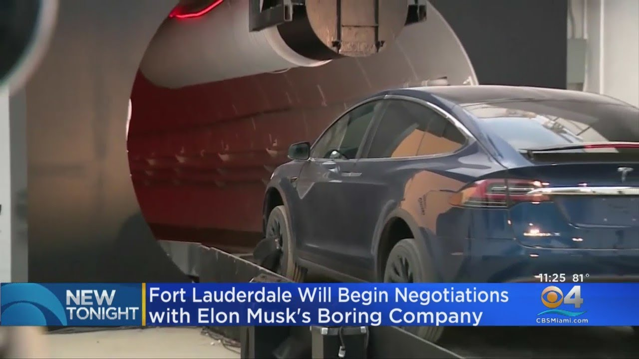 Fort Lauderdale Commissioners Vote 4-1 In Favor Starting Negotiations With Boring Company To Build T