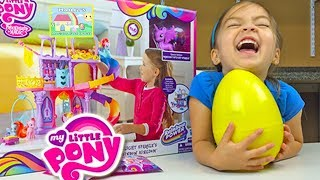 HUGE MLP SURPRISE EGGS My Little Pony Kingdom Castle Princess Twilight Toys Magic - Huevos Sorpresa