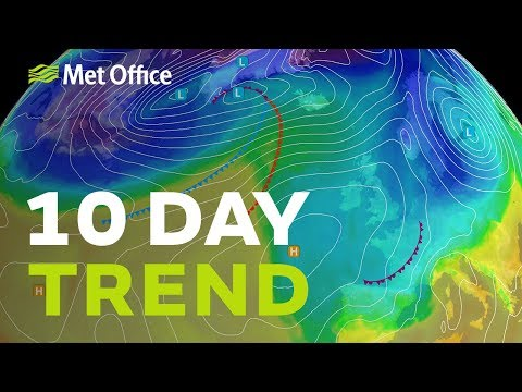 10 Day trend – Calmer weather next week 13/03/19