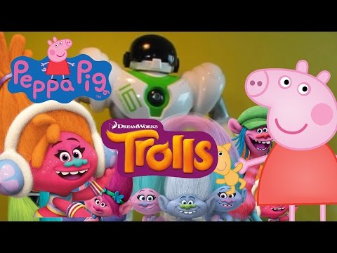 Remote Control Robot President Review feat. Peppa Pig and Dreamwork's Trolls