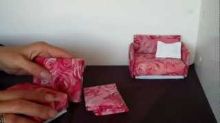 How To Make A Doll Sofa Chair Very Easy And Cheap