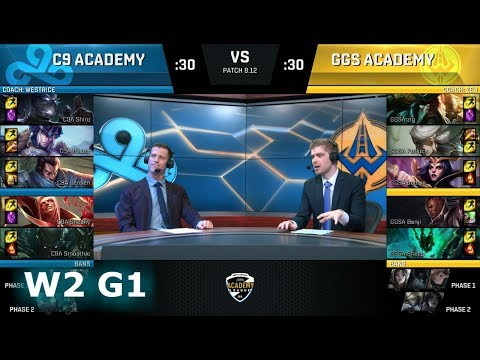 Cloud 9 Academy vs Golden Guardians Academy | Week 2 NA Academy League Summer 2018 | C9A vs GGSA